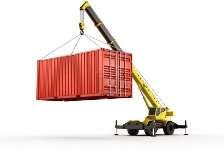 Photo for 3d rendering of a shipping container - Royalty Free Image