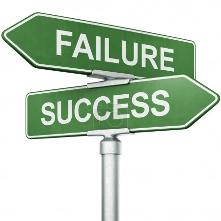 "Photo for 3d rendering of signs with ""FAILURE"" and ""SUCCESS"" pointing in opposite directions - Royalty Free Image"
