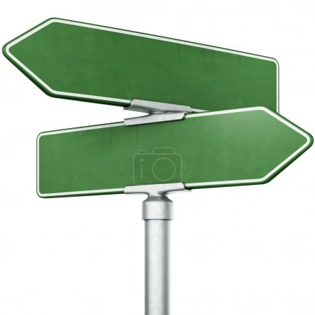 Photo for 3d rendering of blank signs pointing in opposite directions - Royalty Free Image
