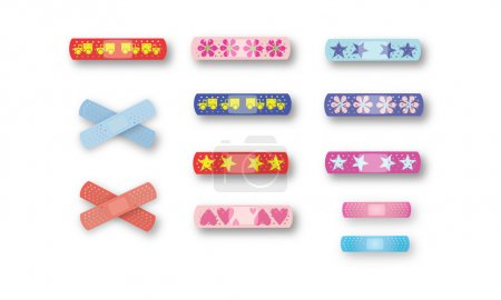 Bright and colorful kids band-aids full page