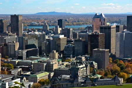 Downtown of Montreal Quebec Canada