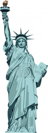 Statue of Liberty on a white background...