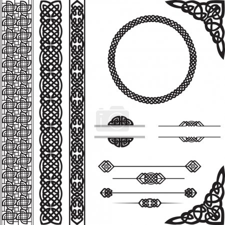 Decorative ornament in Celtic style