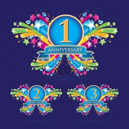 Illustration for Aniversary ribbon set - Royalty Free Image