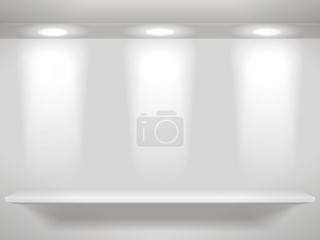 Photo pour Étagères sur le mur - image libre de droit