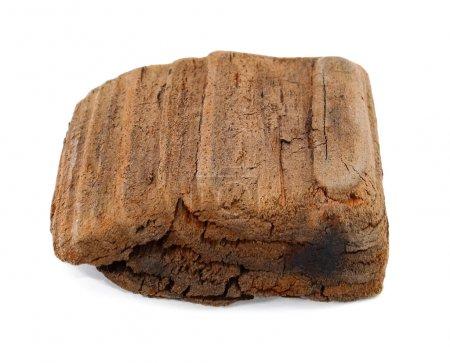 Photo pour Morceau de bois sur fond blanc - image libre de droit