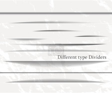 Illustration for Divider elements in the white style - Royalty Free Image