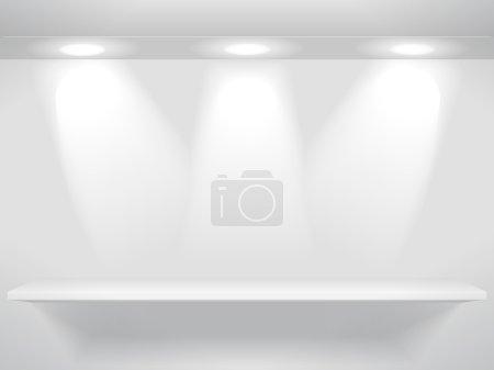 Bookshelf with lights