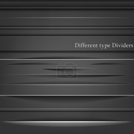 Illustration for Set of the element dividers - Royalty Free Image