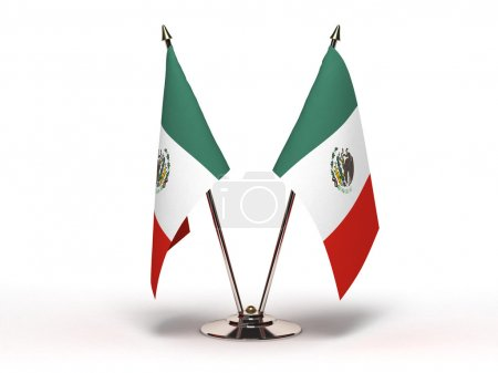Photo pour Drapeau de la miniature du Mexique (isolée) - image libre de droit