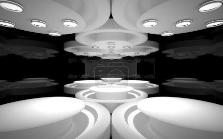 The stylish interior of the restaurant