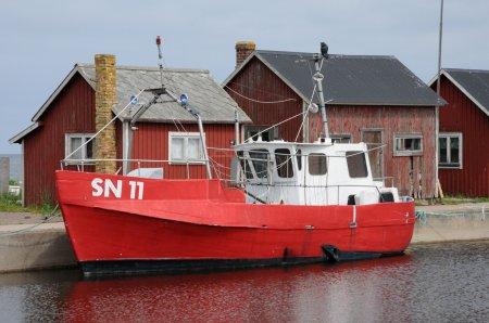 Sweden, thefishing port of Grasgardshamn in summer