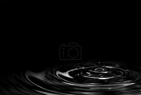 Photo pour Abstrait fond d'huile noire - image libre de droit