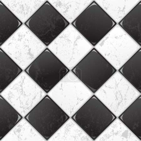 Illustration for Black And White tile seamless background. EPS 10 vector. - Royalty Free Image