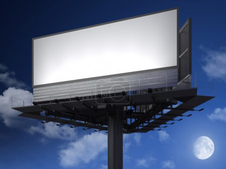 Blanck billboard at night