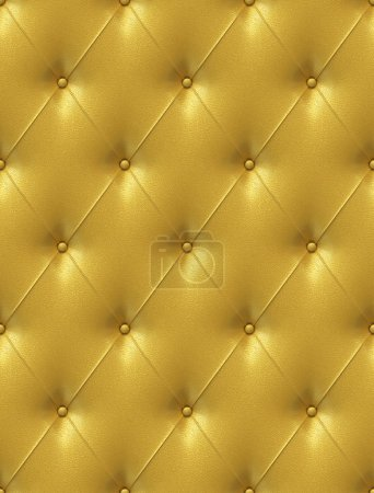 Golden leather upholstery