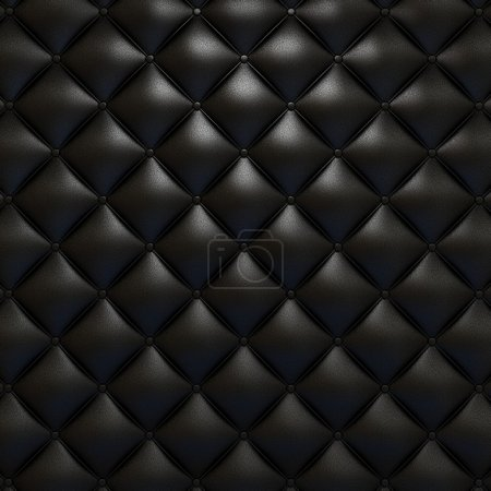 Photo for Black leather upholstery texture with grat detail for background, check my port for a seamless version - Royalty Free Image