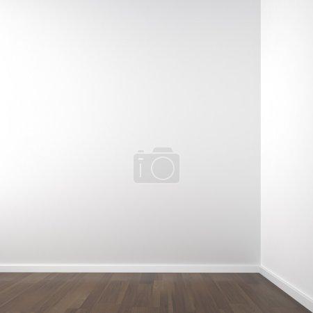 Photo pour Espace d'angle blanc vide pour placer votre produit ou modéliser tout l'espace de copie - image libre de droit