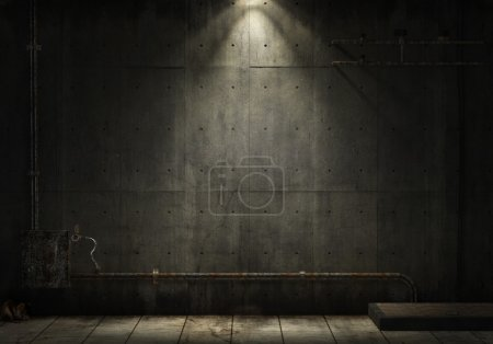 Photo for Grunge background of an interior industrial scene with copy space - Royalty Free Image