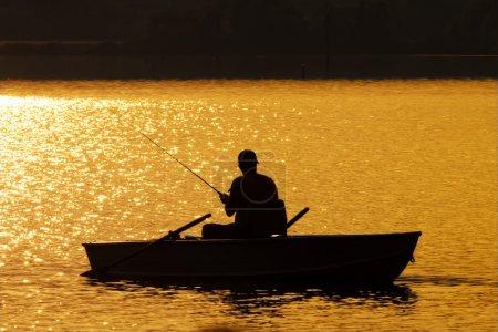 Fishing at Sunset