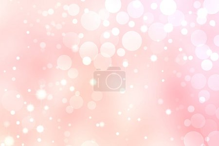 Photo for Pink Bokeh Background, White Circle and Star Lights - Royalty Free Image