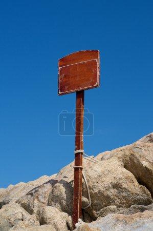 Sign on Rocks