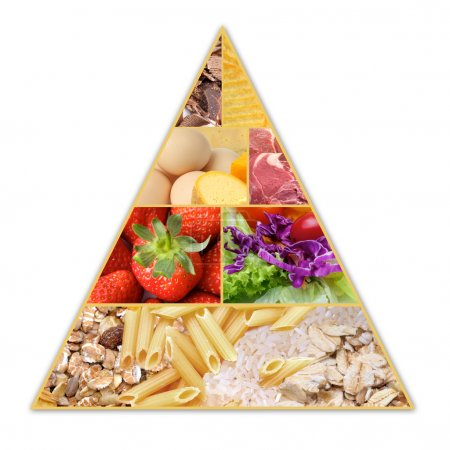 Photo for A pyramid health guide for healthy diets - Royalty Free Image