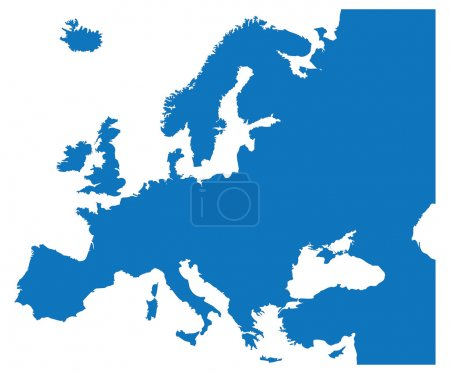 Illustration for Blue Map of the European Countries - Royalty Free Image