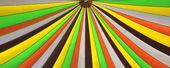 Různé diagonální stipes různých barev na plátně