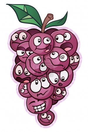 A group of grapes talking and gossiping. Each grap...