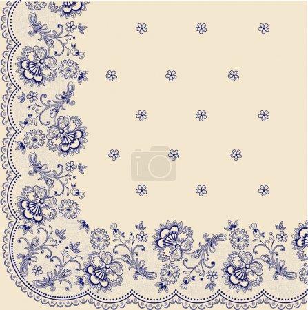 Illustration pour Ornement doux bleu sur fond beige - image libre de droit