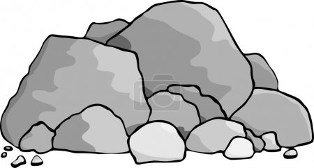 A pile of boulders and rocks....