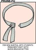 Martial arts uniform belt with detach button in Prune-Fu comic strip 4
