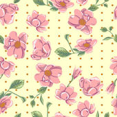 Cute pattern with pink flowers