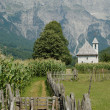 Prokletije mountains, view from Thethi village, Al...