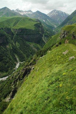 Georgian Military Highway, Caucasus mountains