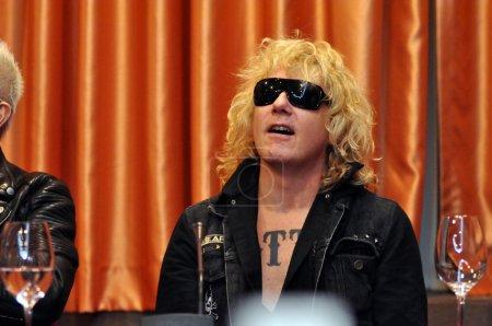 Rock star at press conference