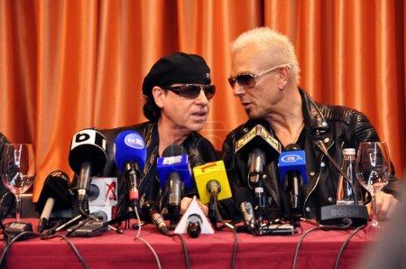 Rock stars at press conference