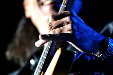 Guitarist performs live on the