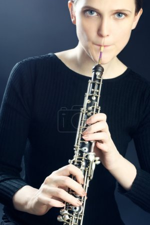Oboe musical instrument oboist playing