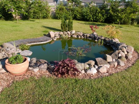 Beautiful classical garden fish pond