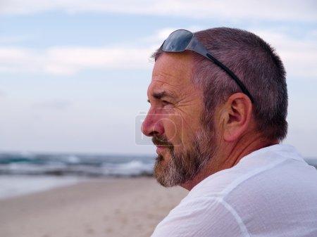 Portrait of a thinking senior man
