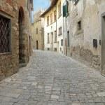 Narrow italian street in tuscan borgo Montefiorall...