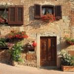 Typical italian nook in tuscan village, Certaldo, ...