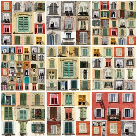 Collage with various windows