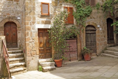 Photo for Picturesque nook in italian village Pitigliano, Europe - Royalty Free Image