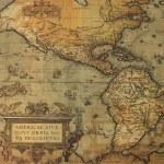 Постер, плакат: Antque map of America