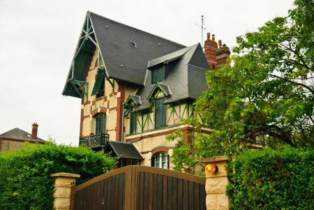 Original Norman style house in Livarot, Normandy, France
