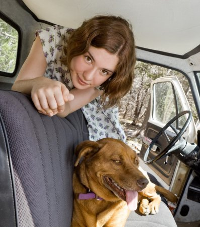 A Girl, A Truck, and her Dog