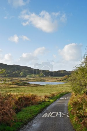 Single road on the Isle of Seil